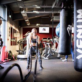 Sara training at Axis Fitness Gym